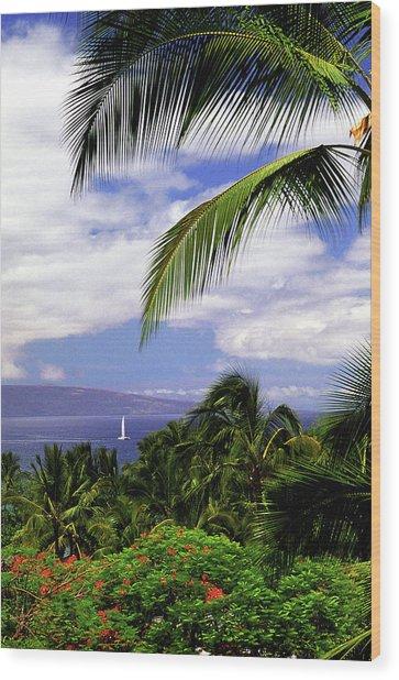 Hawaiian Fantasy Wood Print