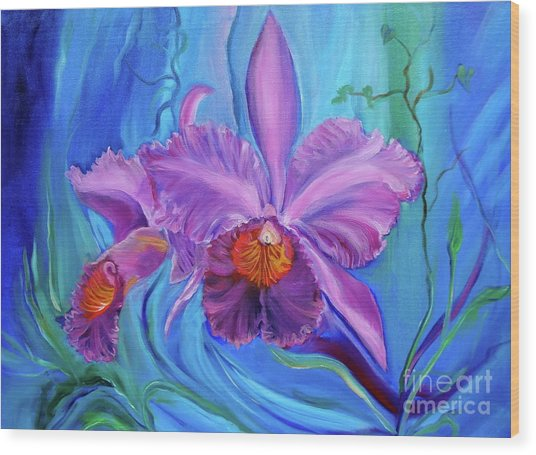 Hawaiian Orchid Lavender Jenny Lee Discount Wood Print