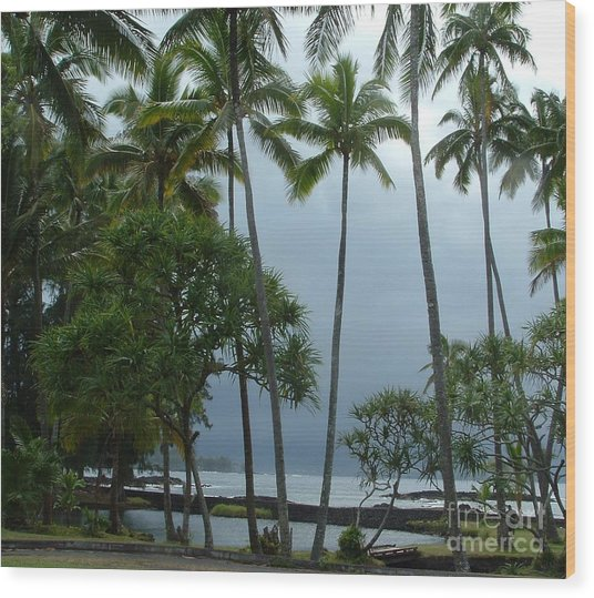 Hawaiian Paradise Wood Print