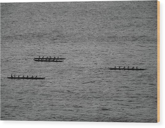 Hawaiian Rowers Wood Print