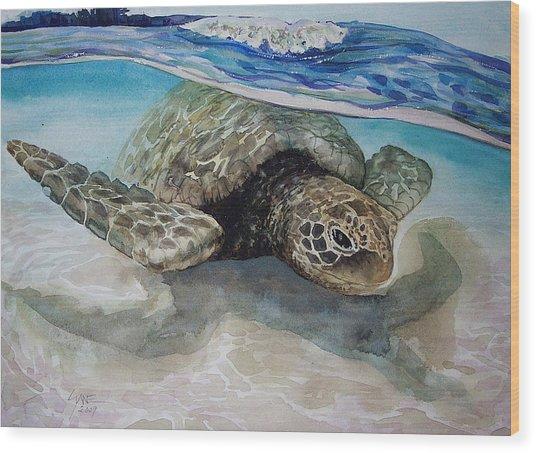 Hawaiin Turtle Wood Print