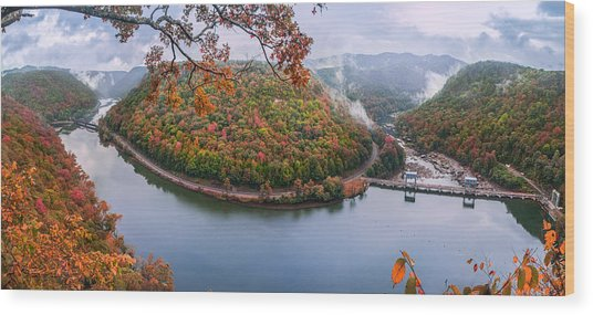 Hawks Nest State Park Autumn Splendor Wood Print