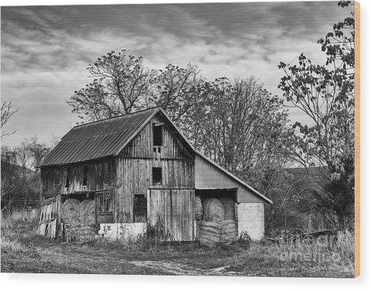 Hay Storage Wood Print