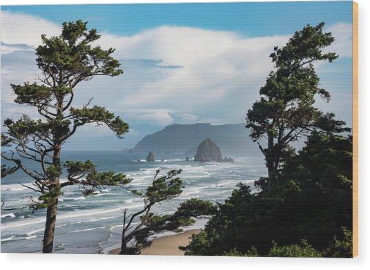 Haystack Views Wood Print
