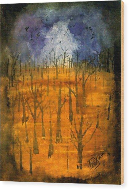 Haze Wood Print by Jason Pliler
