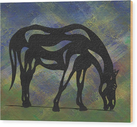 Hazel - Abstract Horse Wood Print