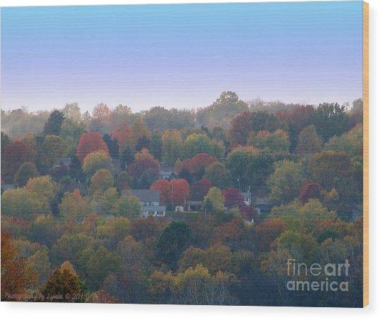 Hazy Autumn Wood Print