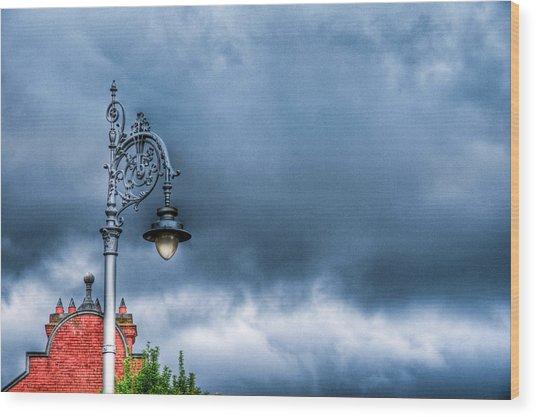 Hdr Street Lamp Wood Print