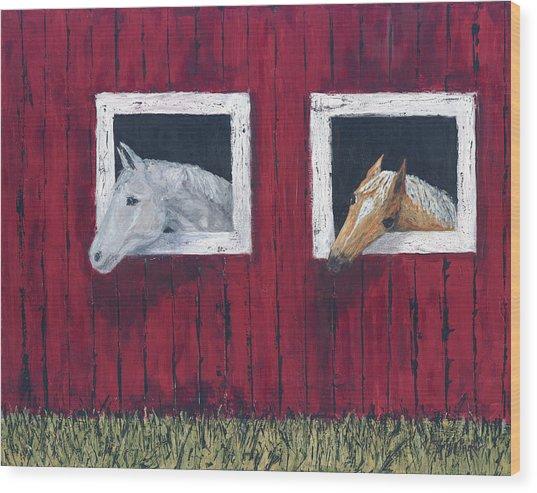 He And She Wood Print