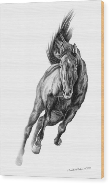 Head On Wood Print by Renee Forth-Fukumoto