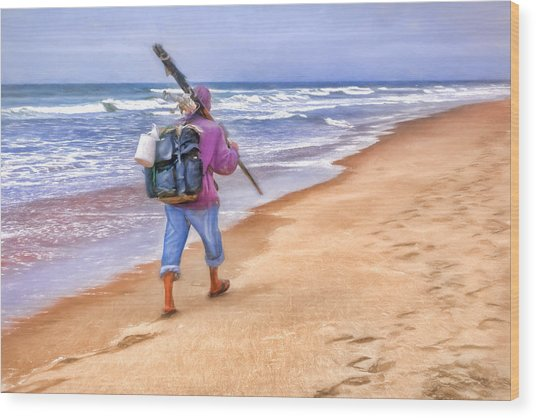 Heading Home - Ocean Fisherman Wood Print