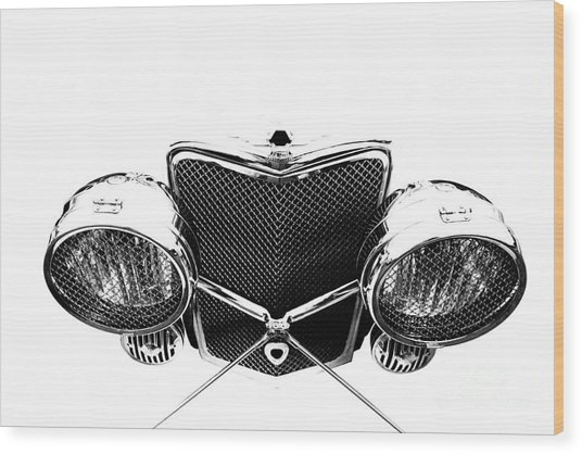 Wood Print featuring the photograph Headlights by Stephen Mitchell