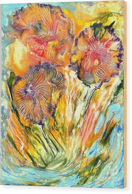 Healing Blossoms For Heather Ward Wood Print by Heather Hennick