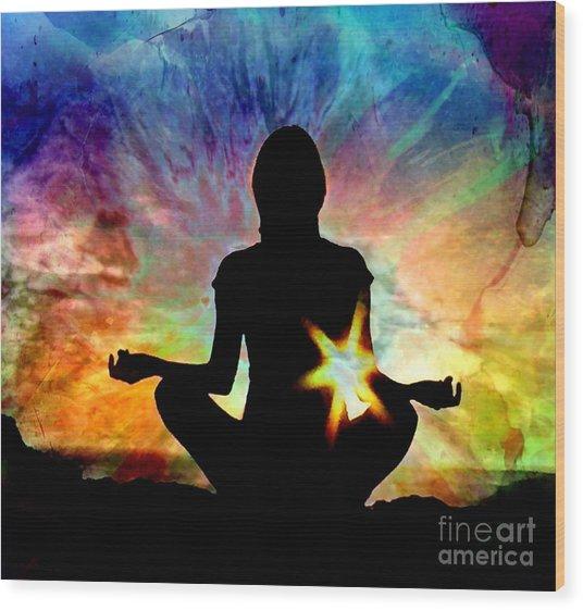 Healing Energy Wood Print