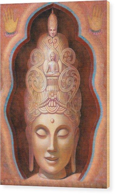 Healing Tara Wood Print