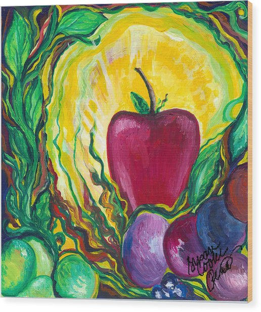 Health Wood Print by Susan Cooke Pena