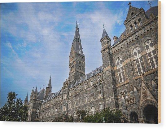 Healy Hall - Georgetown University Wood Print