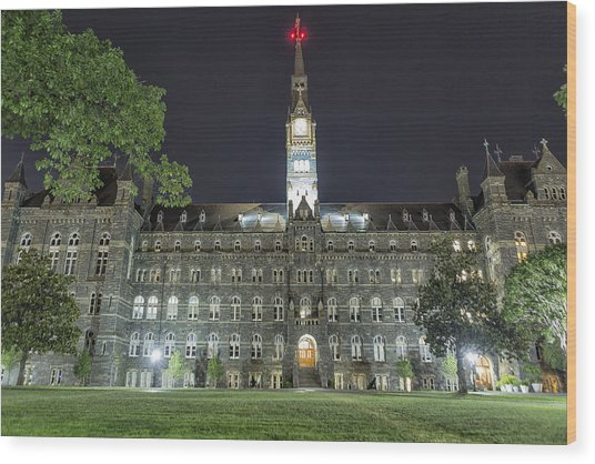 Wood Print featuring the photograph Healy Hall by Belinda Greb