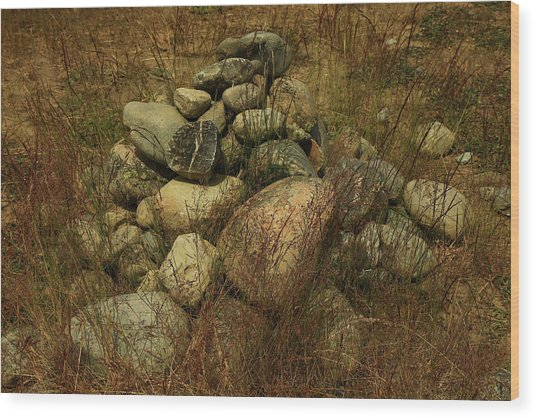 Heap Of Rocks Wood Print