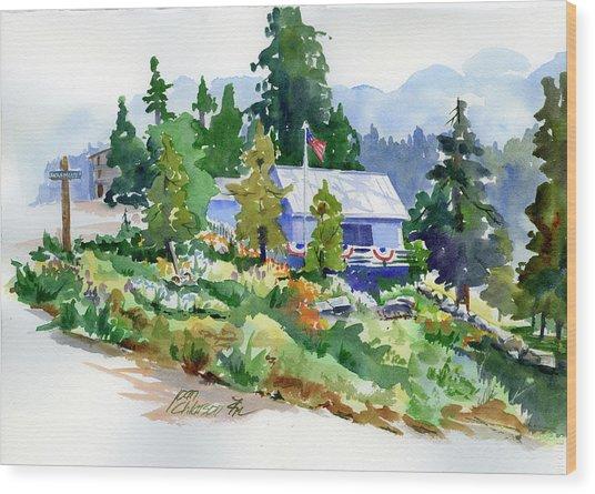 Hearse House Garden Wood Print