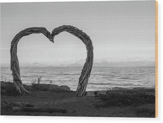 Heart Arch Wood Print