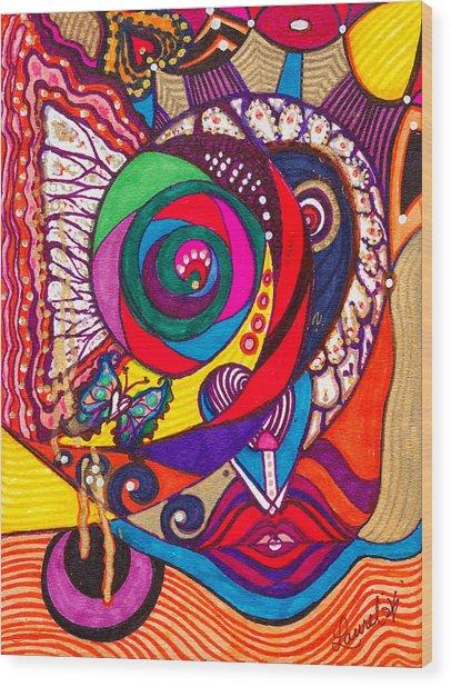 Heart Awakening - Iv Wood Print