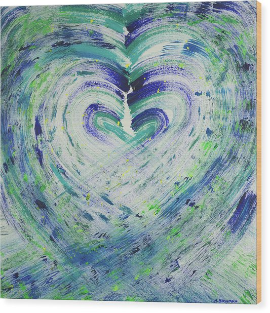 Heart Centered Peace And Love Wood Print