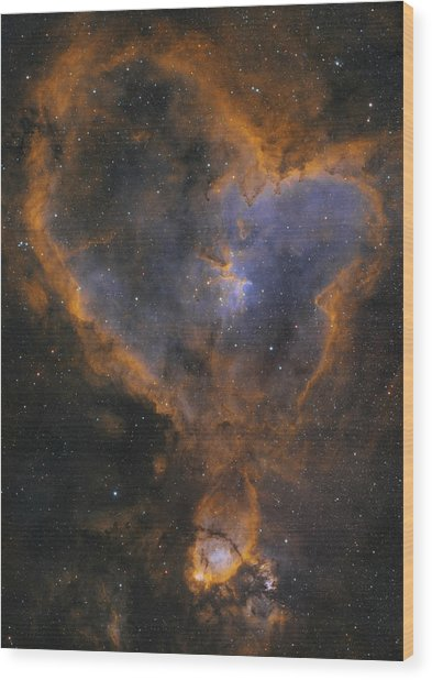 Heart Nebula Wood Print