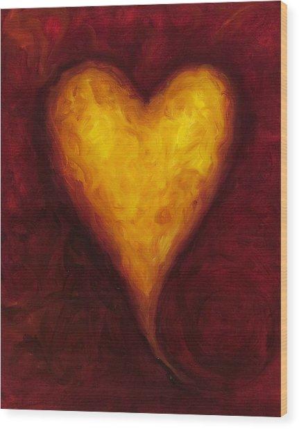 Heart Of Gold 1 Wood Print
