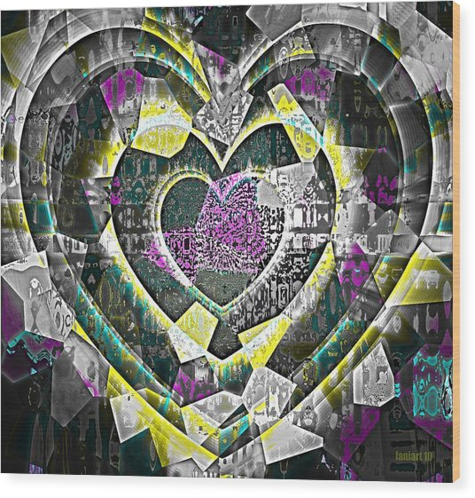 Heart Of Gold Wood Print by Fania Simon