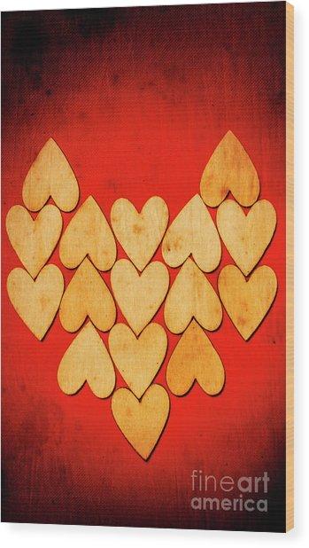 Heart Of Hearts Wood Print