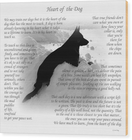 Heart Of The Dog Version Two Wood Print