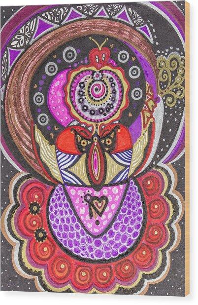 Heart Of The Feminine Wood Print