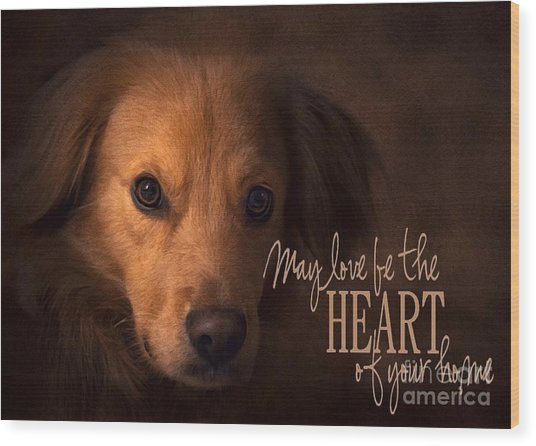 Wood Print featuring the digital art Heart Of Your Home  by Kathy Tarochione