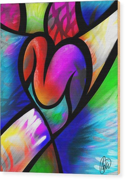 Heart Vectors Wood Print