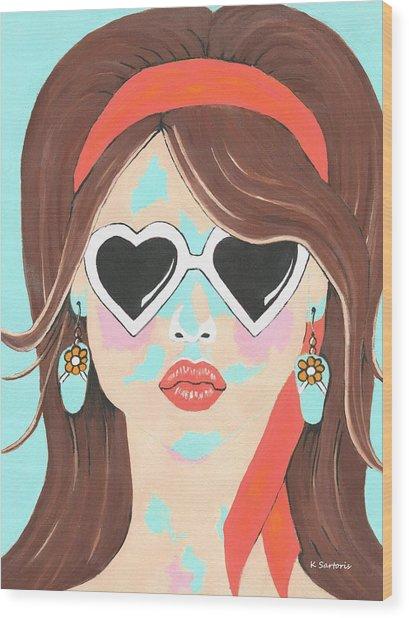 Heartbreaker - Contemporary Woman Art Wood Print
