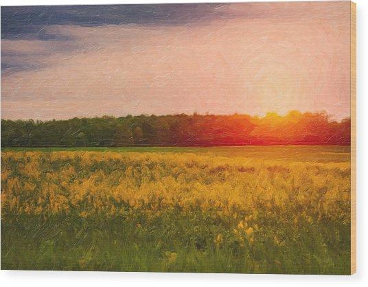 Heartland Glow Wood Print