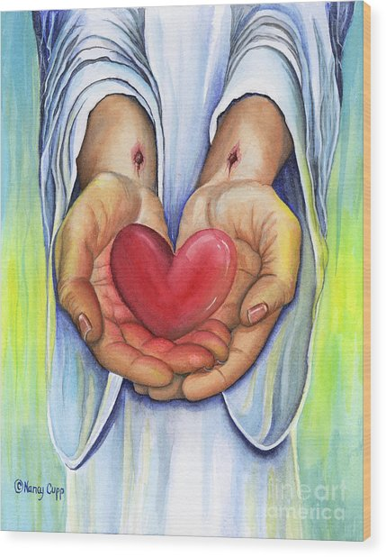 Heart's Desire Wood Print