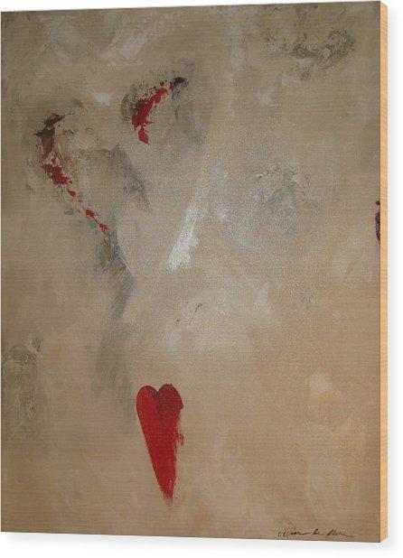 Hearts Eternal Wood Print by Vivian Mora