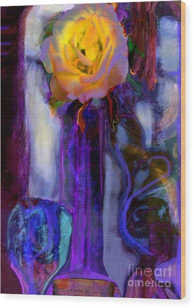 Hearts 'n Flowers Love Always Wood Print
