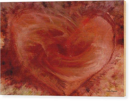 Hearts Of Fire Wood Print