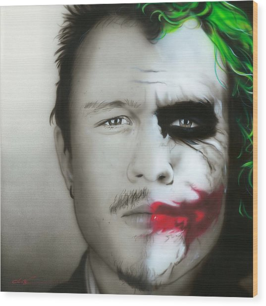 Heath Ledger / Joker Wood Print