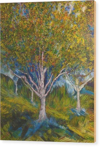 Heather Farms Treescape Wood Print