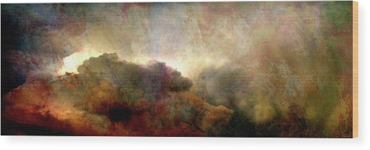 Heaven And Earth - Abstract Art Wood Print