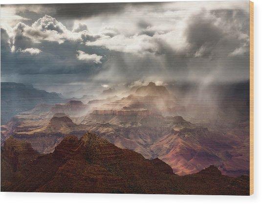 Heaven And Earth Wood Print by Adam Schallau