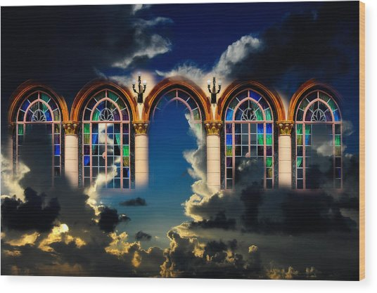 Wood Print featuring the photograph Heaven by Harry Spitz