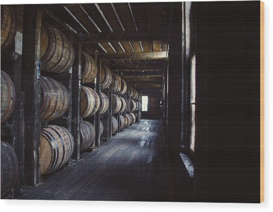 Heaven Hill Barrels  Wood Print