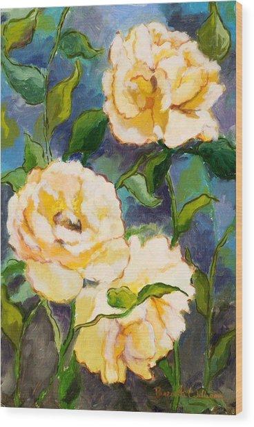 Heaven On Earth Roses Wood Print by Brenda Williams