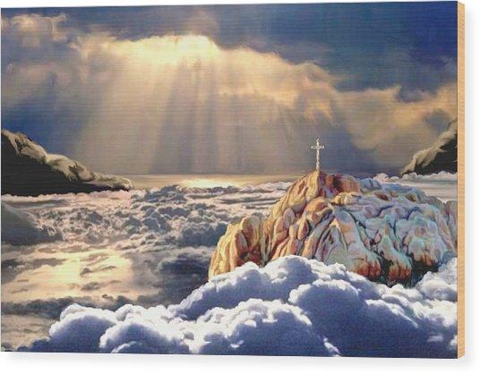 Heavenly Ascension Wood Print