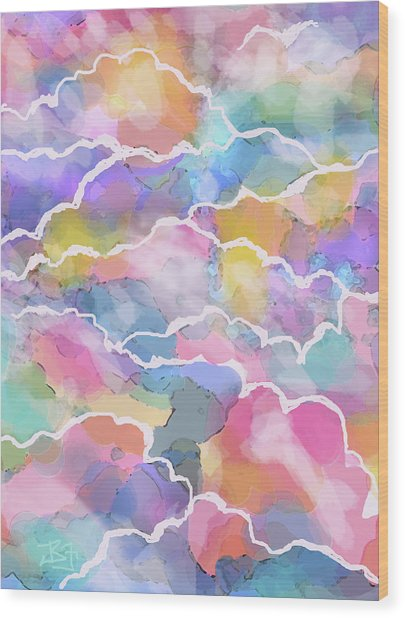 Heavenly Clouds Wood Print